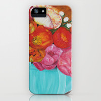 Flowers in a vase  iPhone & iPod Case by Lauren Lee Designs