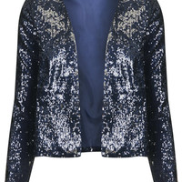 **SEQUIN LONG SLEEVE LINED JACKET BY OH MY LOVE