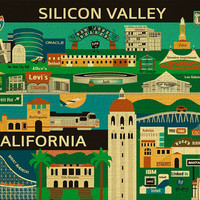 Silicon Valley, San Jose, Santa Clara, Peninsula, Collage Skyline - E8-O-SIL