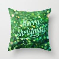 Merry Christmas Throw Pillow by RDelean