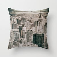 New York City buildings Throw Pillow by JAY'S PICTURES