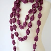 Purple Candy Extra Long Necklace- Infinity -Circle -Loop Scarf-free shipping