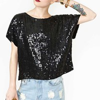 Inked Sequin Top