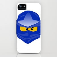 Ninjago face Jay  iPhone & iPod Case by Lauren Lee Designs