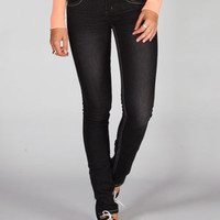 FREESTYLE Contrast Stitch Womens Skinny Jeans