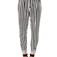 The Blurred Lines Trouser Pant in Black and White