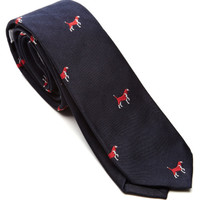 Beagle-Printed Classic Silk Tie by Thom Browne Now Available on Moda Operandi