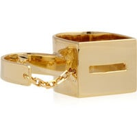 Esteban Cortazar by Alican Icoz gold-plated double chain ring – 50% at THE OUTNET.COM