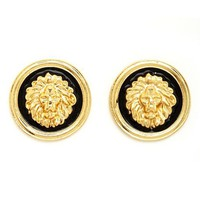 LION HEAD STUD EARRINGS