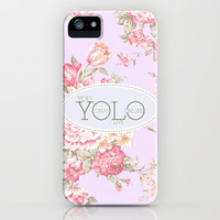 Y O L O iPhone & iPod Case by Sara Eshak