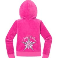Girls Original Jacket in Snowflake Velour