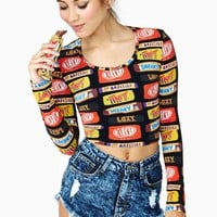 Lazy Oaf Sneaky Candy Crop Top