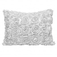 Wake Up Frankie - The Bouquet Standard Sham - White : Teen Bedding, Pink Bedding, Dorm Bedding, Teen Comforters