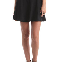 Nollie Solid Black Skater Skirt at PacSun.com