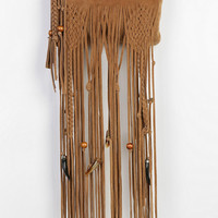 Beaded Suede Fringe Crossbody Clutch - Urban Outfitters