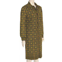 Mr. Dino Vintage 1960s Iconic Collectable Mosaic Print Dress L