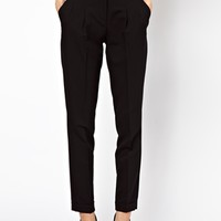 ASOS Peg Pants With Pleat Front