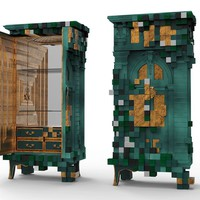 Wooden wardrobe with drawers PICCADILLY Limited Edition Collection by Boca do lobo