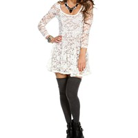 Ivory 34 Sleeve Babydoll Top