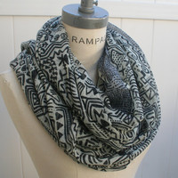 Tribal Scarves Infinity Scarf Aztec Scarf Best Selling Items Womens Scarves Winter Scarf - By PIYOYO