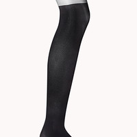 Futuristic Ribbed Tights