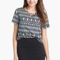 Lily White Banded Skirt (Juniors) (Online Only) | Nordstrom