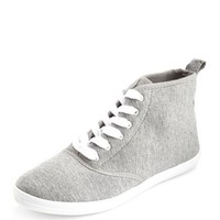 JERSEY LACE-UP HI-TOP SNEAKER