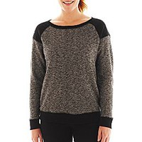 Xersion™ Quilted-Shoulder Sweatshirt