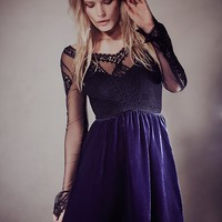V For Victorian Velvet Mini Dress