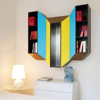'Kineticism IV', Wall Cabinet and true functional painting by Charles Kalpakian