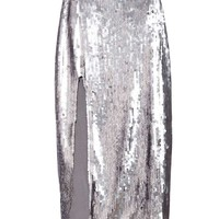 Nasty Gal Waves Of Light Sequin Midi Skirt