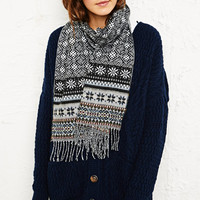 Snowflake Scarf in Grey at Urban Outfitters