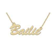 18K Gold Plate Script Name Necklace (12 Letters)