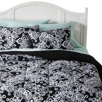 Xhilaration® Damask Comforter Set - Black/White