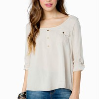 Easy Weekend Challis Blouse