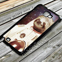 Dolla Dolla Bill Sloth Astronaut design case for samsung galaxy note 2 from shayuti accessories