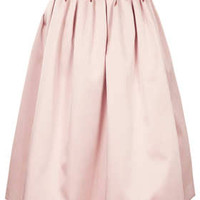 **LIMITED EDITION DUCHESS SATIN MIDI SKIRT