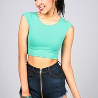 Capped Crop Top