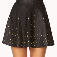 Secret Rebel Grommet Skater Skirt
