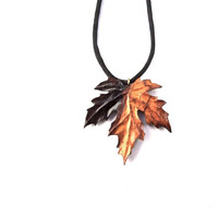 Wood Jewelry, Wooden Leaf Pendant, Carved Leaf Pendant, Wood Leaf Necklace, Exotic Wood Jewelry, Wood Carved Pendant, Wood Necklace