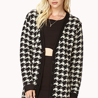 Retro Houndstooth Cardigan