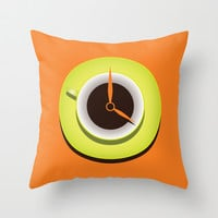 It's Coffee Time Throw Pillow by Boriana Giormova