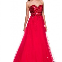 *Stunning Long Back Zipper Strapless Homecoming Prom Sweet 16 Dance Gown Dress*
