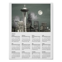 Seattle Space Needle Grey Mist 2015 Calendar Poster