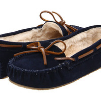 Minnetonka Cally Slipper Dark Navy Suede - Zappos.com Free Shipping BOTH Ways