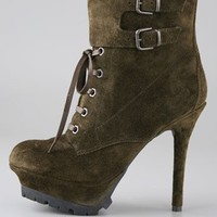 Vancouver Suede Lace Up Booties