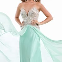Beaded Sweetheart Gown by Prima Donna Collection by Party Time