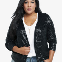 Sequin Mesh Jacket