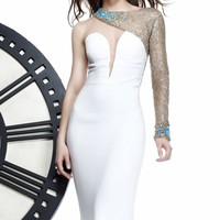 Asymmetrical Long Sleeved Gown by Tarik Ediz