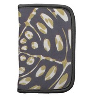 Blue and Creamy Crop Circle Polka Dot Oval Pattern Folio Planner